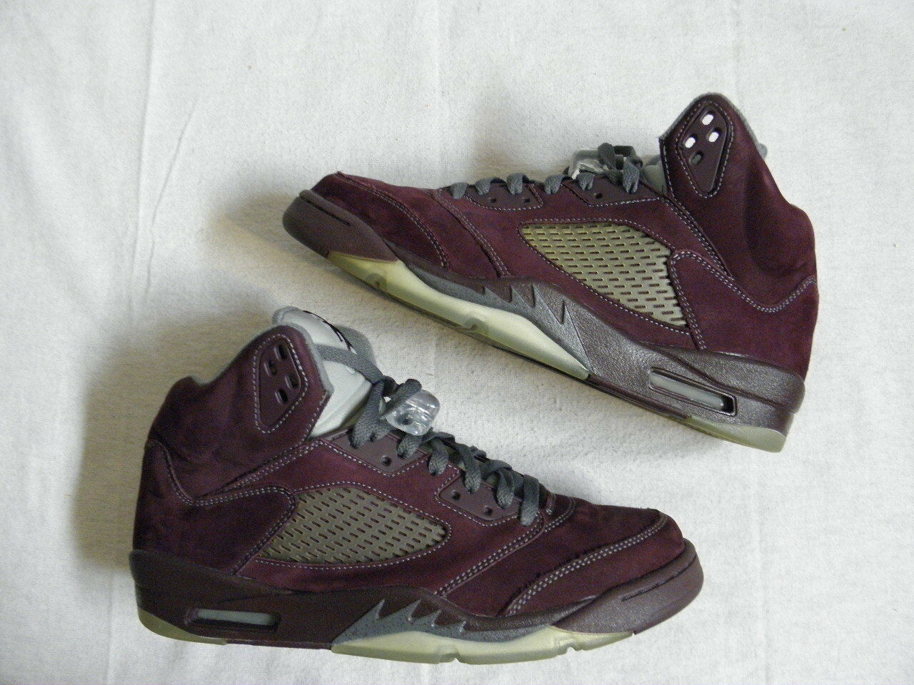 buy popular 46b2a f2c72 Nike Air Jordan V 5 Five Retro LS BURGUNDY size 10.5 VNDS laser vintage  original