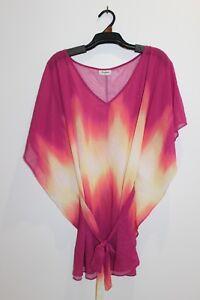 Women-039-s-Chiffon-Pink-Yellow-amp-Orange-Dress-Size-L-JEANSWEST