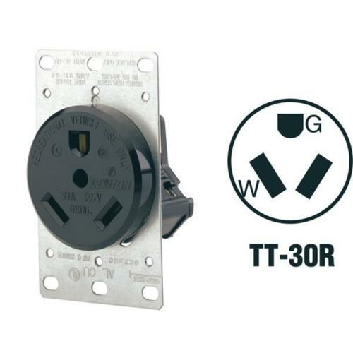 2 Pk Leviton 30A 125V 2 Pole 3 Wire Power TT-30R RV Outlet Receptacle 7313
