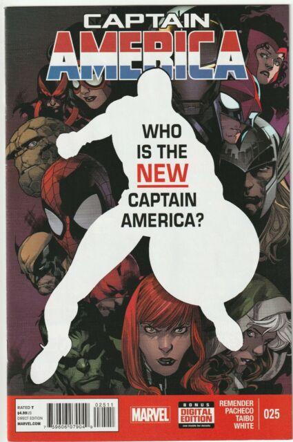 Captain America # 25 NM Falcon & Winter Soldier 1st Appearance Sam Wilson Cap