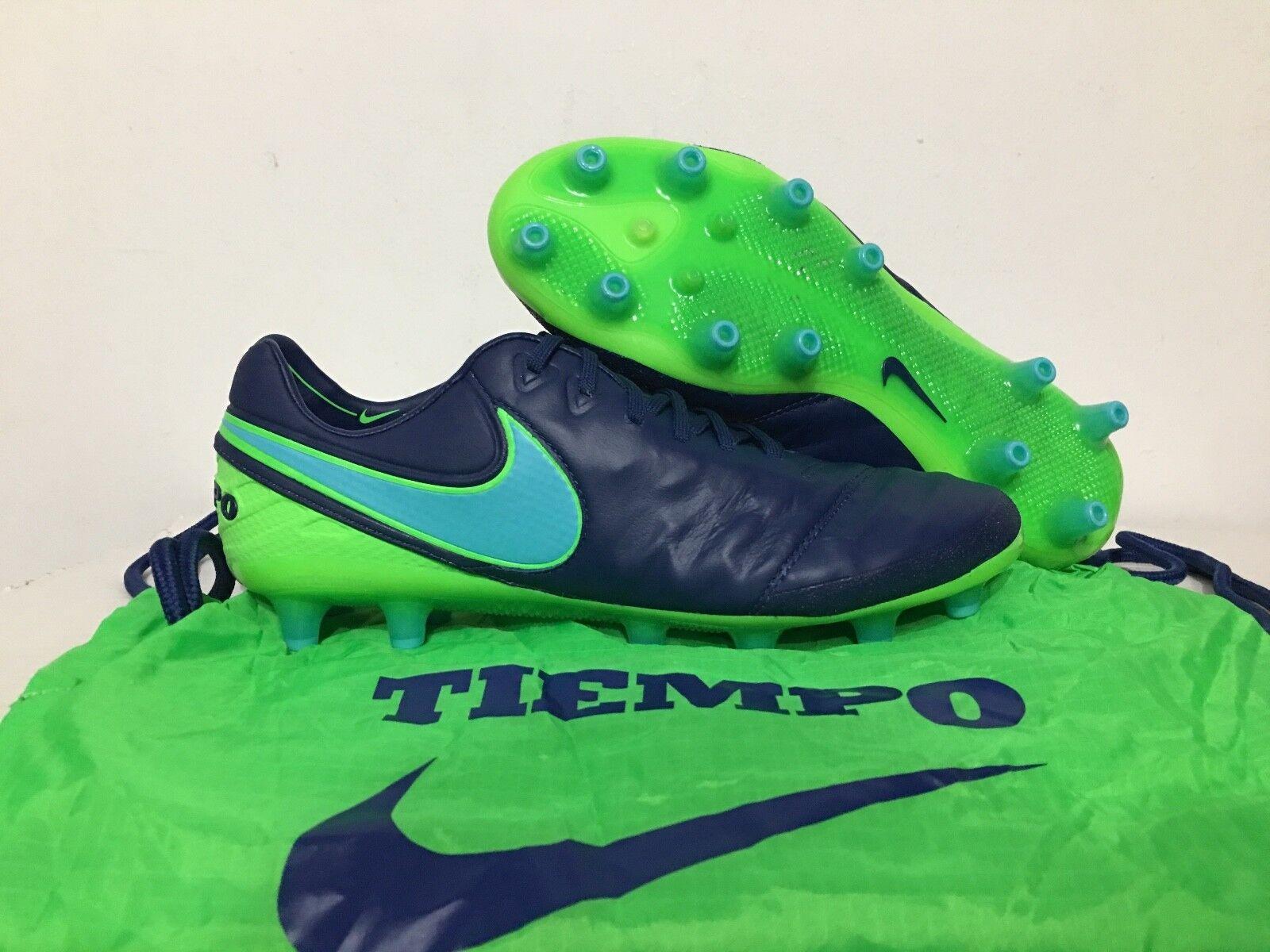Nike Tiempo Legend Chaussures Vi 6 Ag-Pro Acc Chaussures Legend de Football Ctier Bleu Vert c1062d