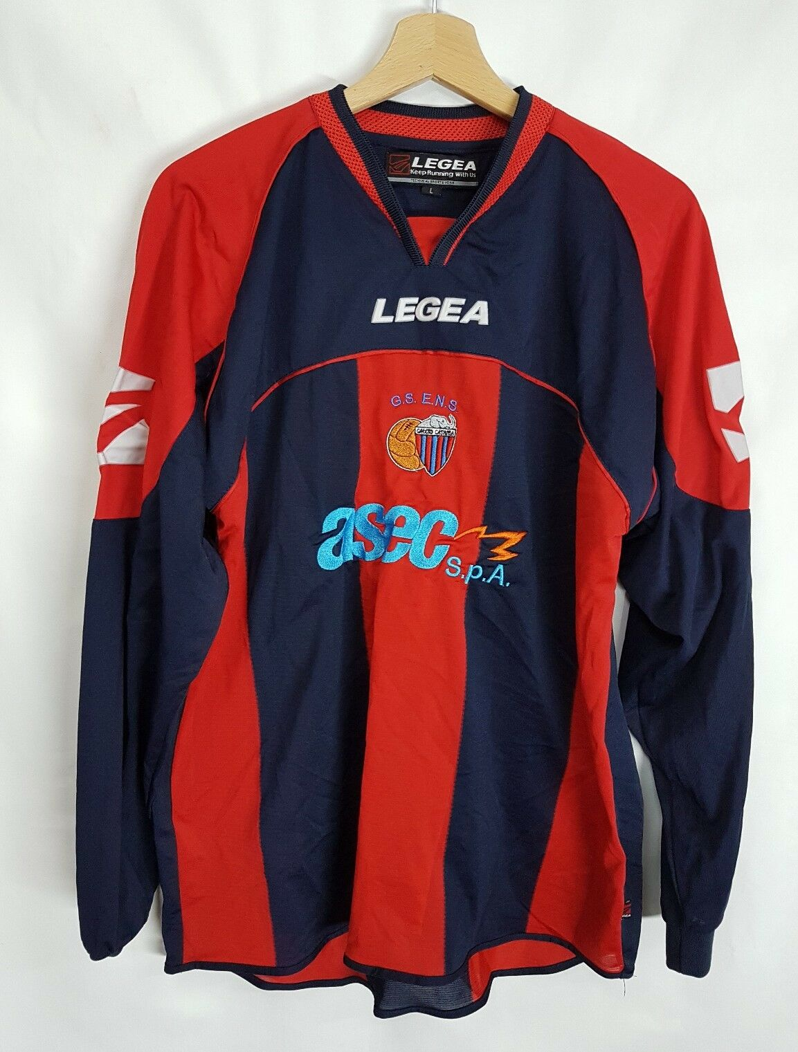 61a359813f7 Maglia calcio Legea Catania vintage 90 shirt camiseta soccer Legea Catania  N°19
