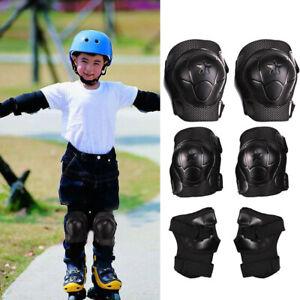 6tlg-Kinder-Schutzausruestung-Protektoren-Set-Handgelenke-Knieschuetzer-Skates