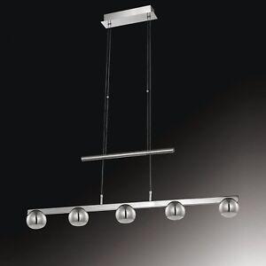 WOFI-lampara-colgante-LED-Mona-5-LLAMAS-CROMADO-REGULABLE-ALTURA-33-5-vatios
