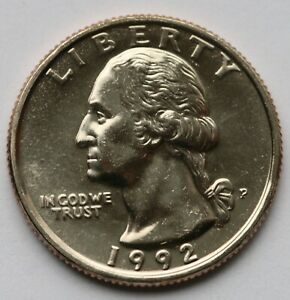 1992-P Washington Quarter Choice//Gem BU Roll Uncirculated