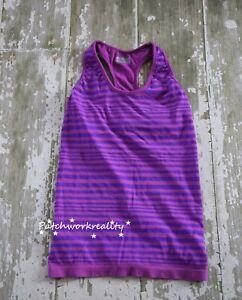 08086db52221f5 Image is loading ATHLETA-Women-039-s-Neon-Striped-Racerback-Athletic-