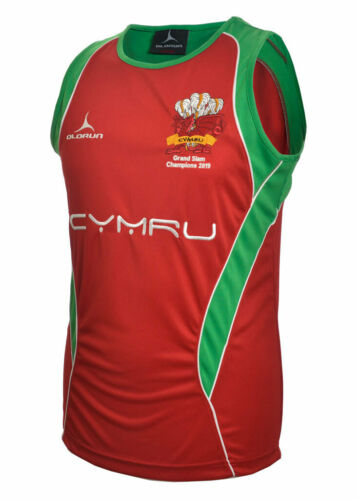 Olorun Wales Grand Slam 2019 Rugby Supporters Iconic Vests L - 3XL