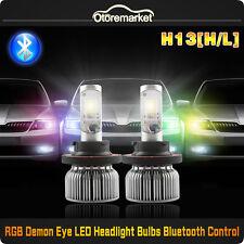 60W H13 9008 RGB LED Headlight Bulb for Ford F150 2004-2012 Hi/Lo Beam Bluetooth
