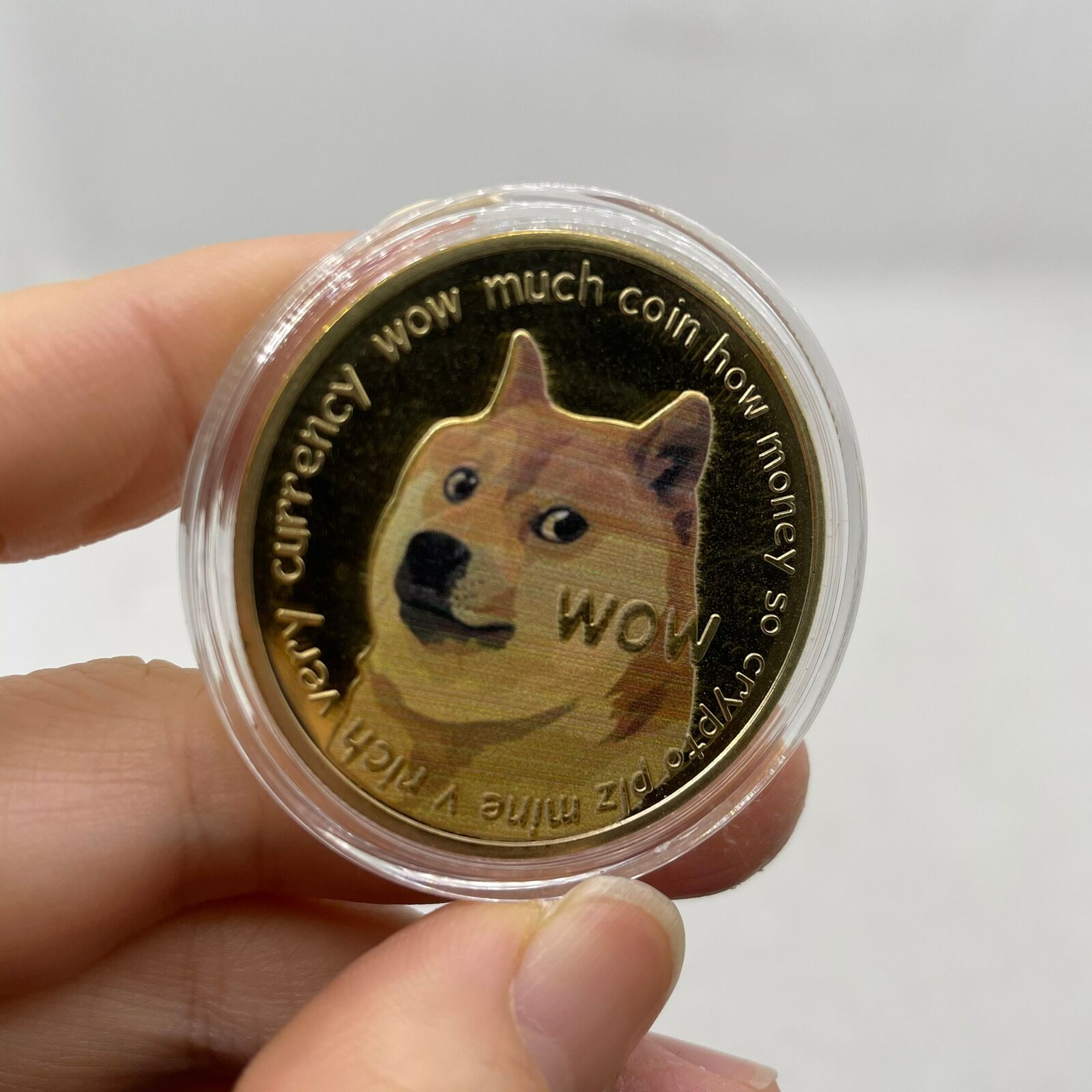Dogecoin (DOGE) Dogecoin Crypto Coin with black Frame for ...