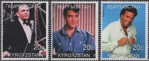 FRANK-SINATRA-ELVIS-PRESLEY-JULIO-IGLESIAS-KYRGYZSTAN-1999-MNH-STAMPS
