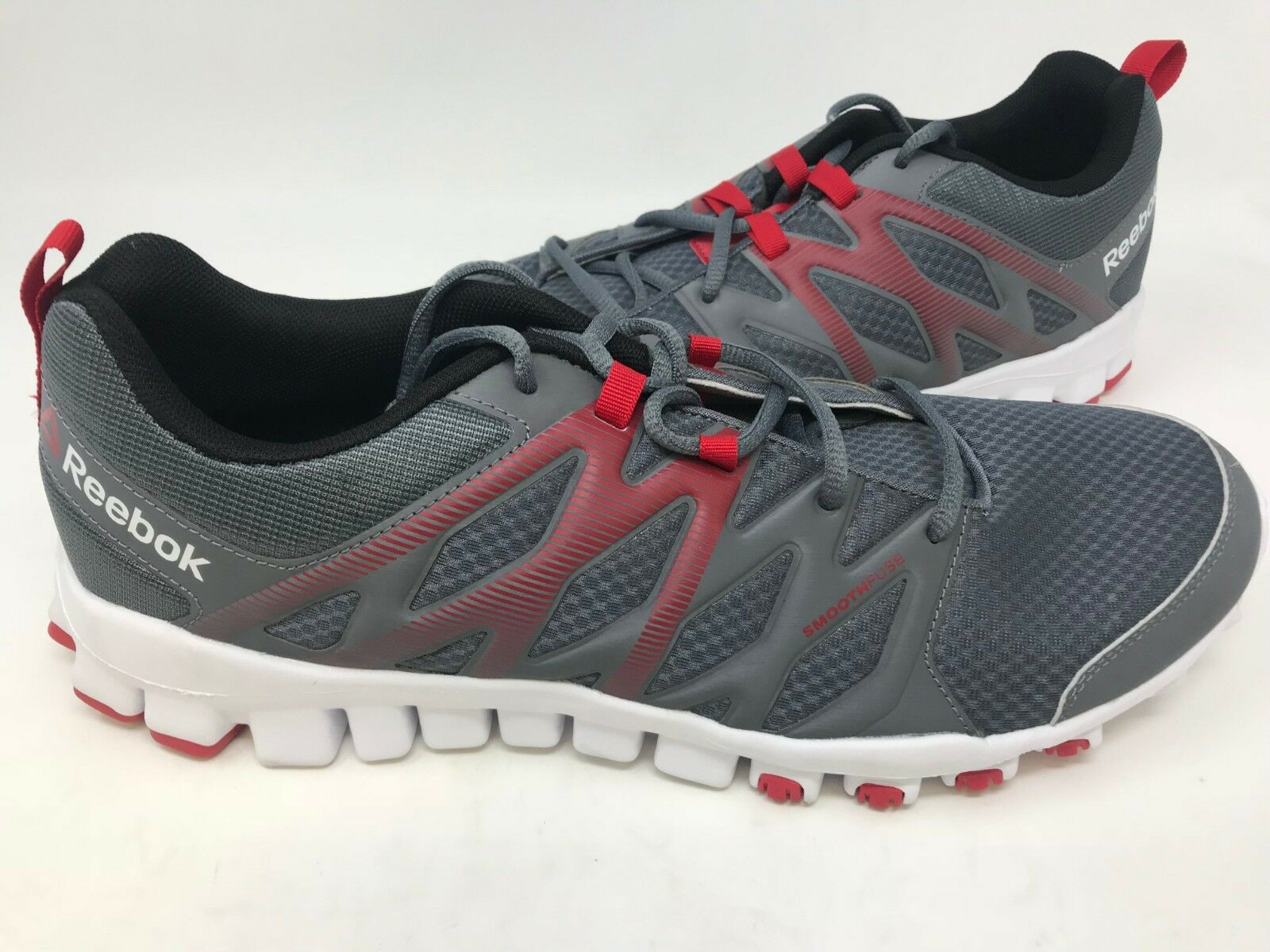 NEW  Reebok Men's Realflex Train 4.0 Athletic shoes Grey Red White S2 z