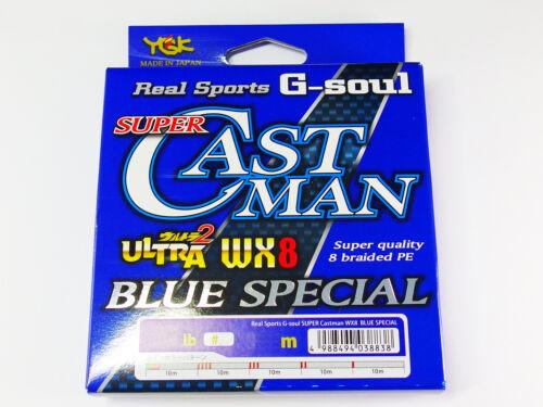 Real Sports G-SOUL SUPER CASTMAN WX8 BLUE SPECIAL 300m #4 62lb YGK