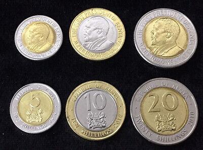 ..10 SHILLING is BI-METAL 1 /& 10 SHILLING 2 COINS from KENYA BOTH 2010