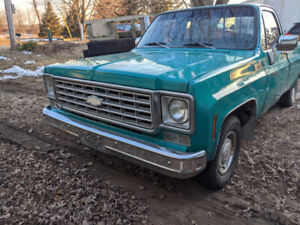 1976 c10 pickup truck for sale 350 engine runs and drives great