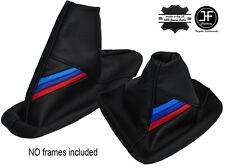 M STRIPES BLACK STITCH GEAR & HANDBRAKE GAITER FITS BMW 5 SERIES E60 E61 04-11