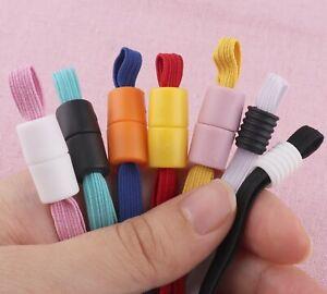 6mm Elastic Cord Colorful Silicone Cord Stopper Plastic Cord Lock