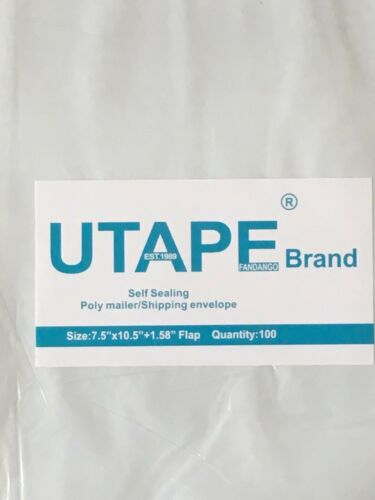 7.5 x 10.5 WHITE POLY MAILERS SELF SEALING SHIPPING BAG UTAPE® BRAND 1000 PIECES