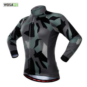 Cycling-Jersey-Long-Sleeve-Jacket-Road-MTB-Bike-Shirts-Quick-Drying-Elastic-Tops