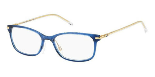 NEW Tommy Hilfiger TH1400 R2117 Blue Crystal Optical Eyeglasses Frames