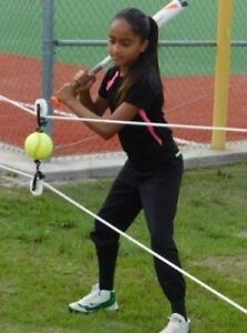 Rip-Cords-Fastpitch-Softball-Practice-Aid-amp-Swing-Trainer-New-Concept