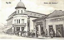 "Romania 1926  Tg.-Jiu ""Gh.Sichitiu"" Hotel,street scene,shop,animated,v.rare pc"