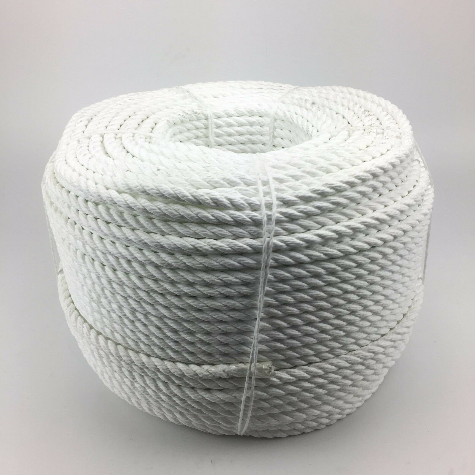 3 Strand White Multifilament 8mm (Floating Rope) x 220m Coil Boats Yacht