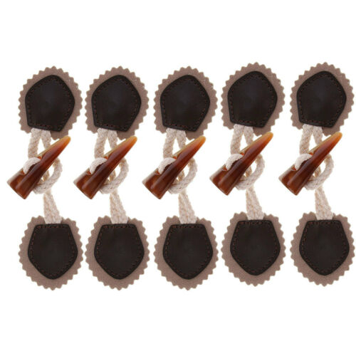 6 Paar Lederhornknebelnähknöpfe Knöpfe für Manteljacke