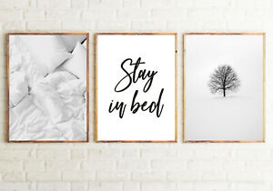 Mate Finish Frameless Birds Home Prints Set of 3 Bedroom Wall Home Decor A3 Size
