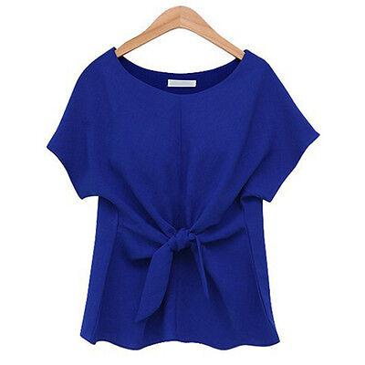New Summer Womens Casual Chiffon Blouse Short Sleeve Shirt T-shirt Blouse Tops