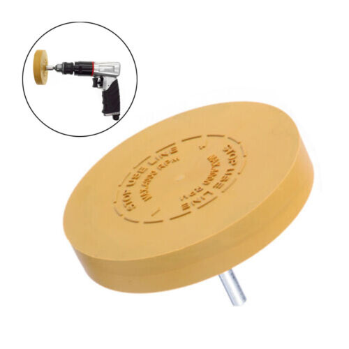 Universal Pinstripe Decal Eraser Wheel Pad Sticker Removal Tool For Power Drill