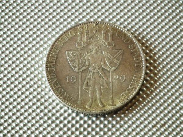 5 Reichsmark 1929 E Meissen Pièce D'argent Weimaer République Rendre Les Choses Commodes Pour Le Peuple