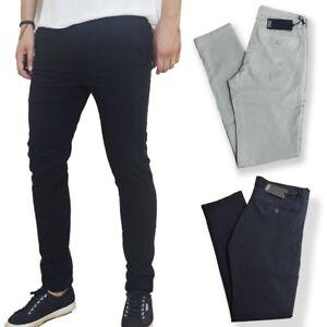 Pantalone-uomo-slim-fit-chino-eleganti-cotone-classic-tasca-americana-nuovo