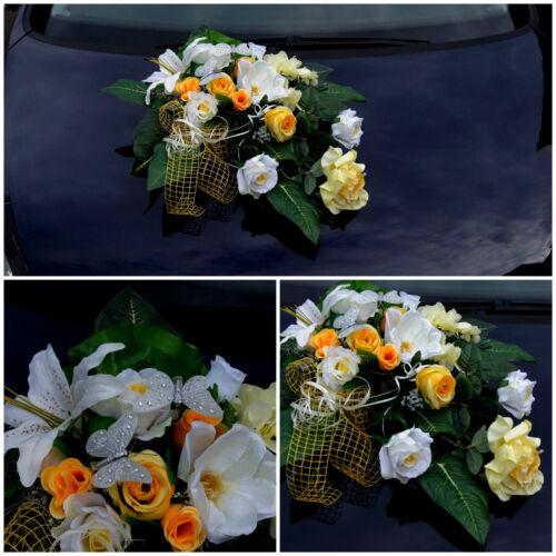 MARIAGE DECO brautauto autoschmuck doIIars Bouquet Art Fleurs Mariée la73