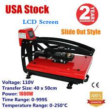 16x 20in Auto Open T Shirt Flat Heat Press Sublimation Machine Vertical Version