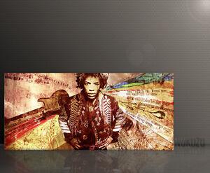 JIMI HENDRIX Wandbild Leinwand Keilrahmen Paul Sinus Art 130x60cm