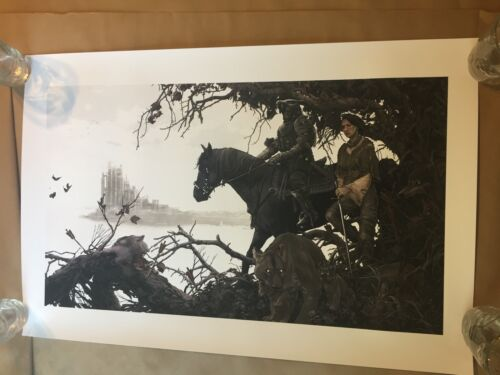 THE HOUND AND THE WOLF by AJ Frena Game of Thrones Poster Print Scratch n Dent