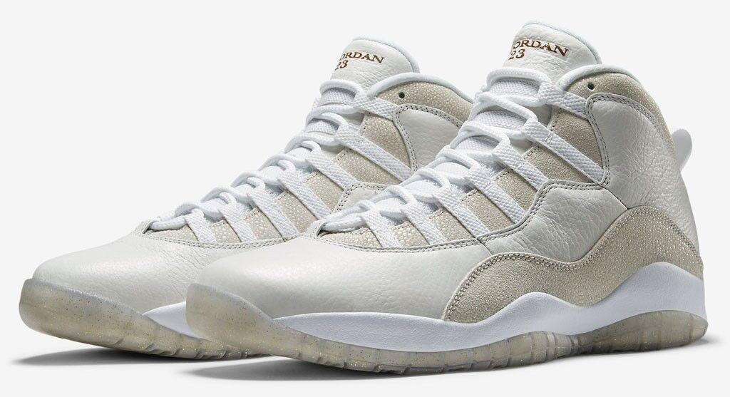 Nike Air Jordan 10 X Retro OVO DRAKE white gold 819955-100