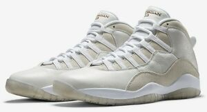 f23316b22345 Nike Air Jordan 10 X Retro OVO DRAKE white gold 819955-100