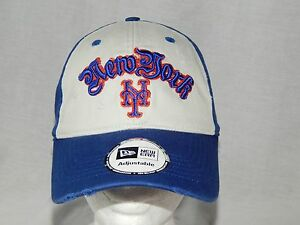 Details about New York Mets Hat MEN'S OSFM Adjustable Slouch Vintage  Baseball Cap MLB New Era