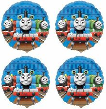 "4x Thomas The Tank Train  Birthday Party Supplies 18"" inch Foil Mylar Balloon"