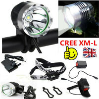 2000 Lumen CREE XMLT6 LED BICYCLE BIKE CYCLING FRONT LIGHT Rechargeable Light UK