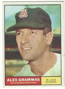 ALEX-GRAMMAS-1961-Topps-64-NM-MT-MLB-St-Louis-Cardinals-Vintage