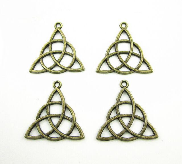 Wholesale Lots Bronze Celtic Knot Triquetra Trinity Charm Irish Pendants