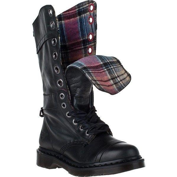 Dr. Martens Women`s Triumph 1914 W Black Black Black Boot Plaid Lining US 10 EU 42 UK 8 LAST 404a05