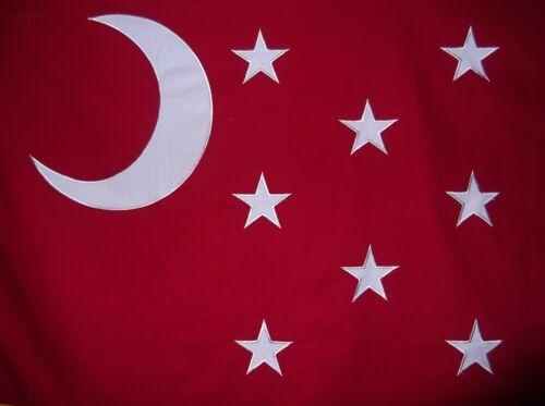 13 STARS /& CRESCENT MOON HEAVy COTTON 3 FEET X 5 FEET GENERAL VAN DORN FLAG