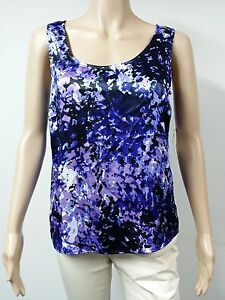 NEW-FAST-to-AUS-Anne-Klein-Top-Sleeveless-Size-S-Purple-Printed-59-00