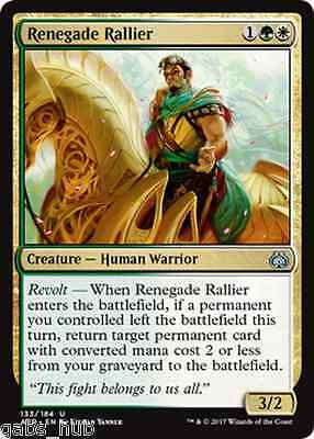 RENEGADE RALLIER Aether Revolt Magic MTG cards (GH)