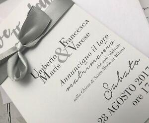 Partecipazioni Inviti Matrimonio.Partecipazioni Nozze Inviti Matrimonio Buonanno Sposi E011 Invito