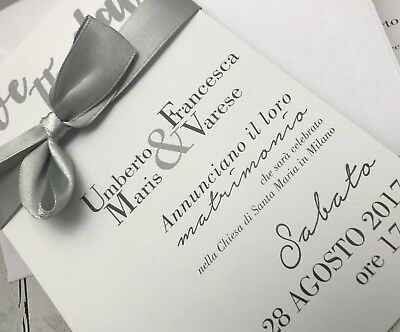 Partecipazioni Matrimonio Varese.Partecipazioni Nozze Inviti Matrimonio Buonanno Sposi E011 Invito