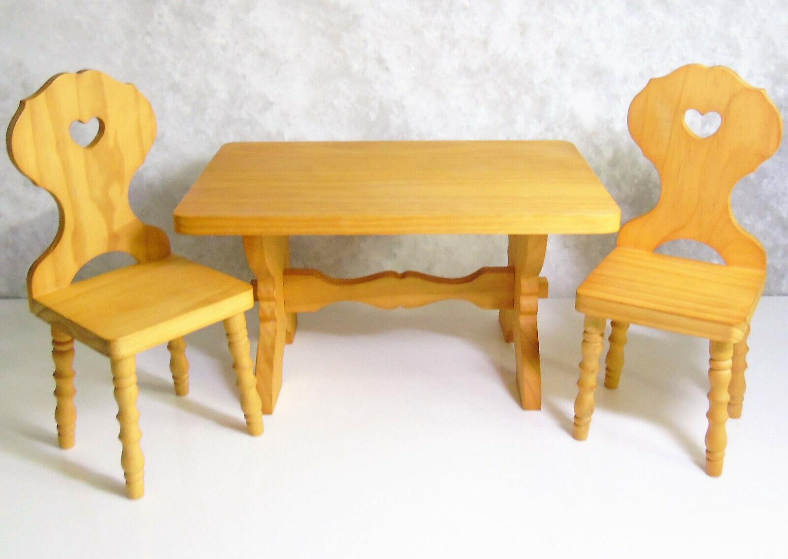 American Girl Doll Möbel KIRSTEN'S Holz Arbeitsbock Tisch & Stühle Echtholz